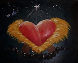 Nativity heart