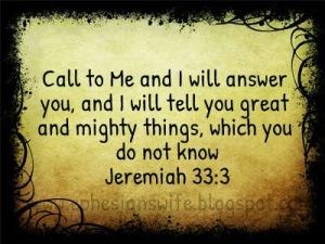 Jeremiah 33:1-3, 6-8