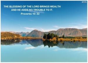 God's blessing brings goodness to your life, not trouble