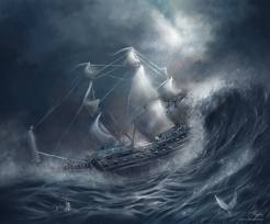 Ocean Storm Boat