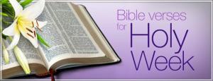 Holy Week verses