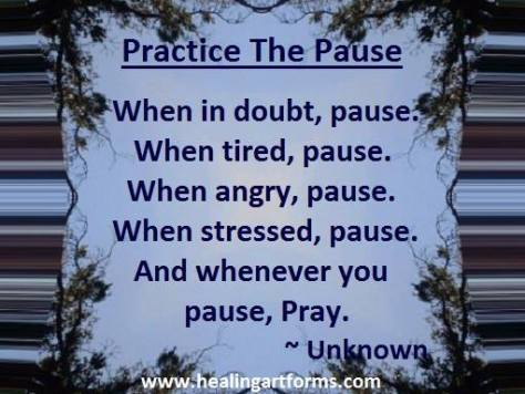 prayer pause