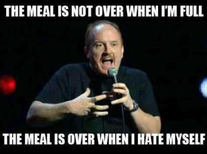 The self-hate meal