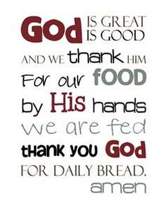 meal prayer god is good