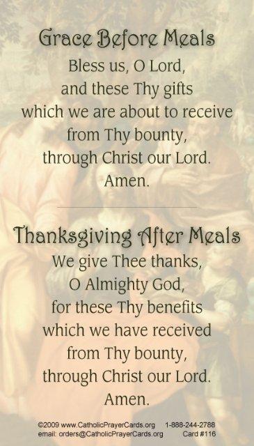 meals prayer