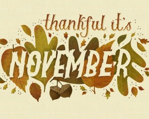Thankful for November