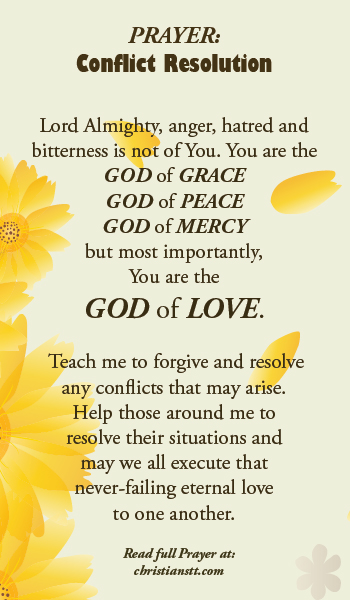 prayer for conflict resolution