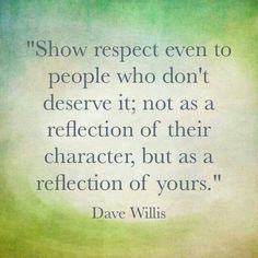 Show Respect To Others