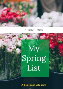 Spring List 2016