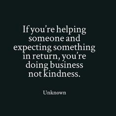 Help without expectations