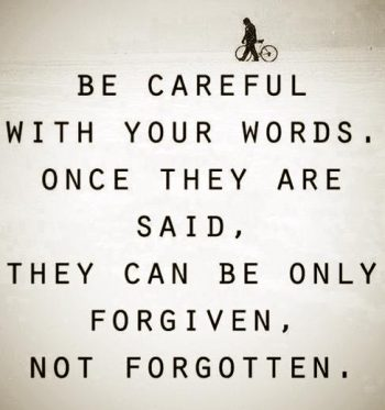words be careful