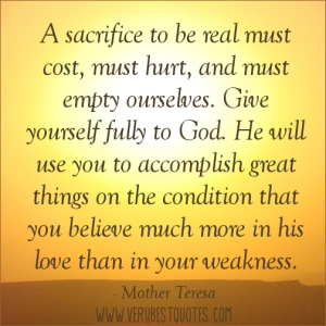Sacrifice-Mother Teresa