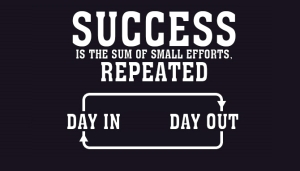 Success is Small Steps