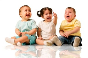 toddlers crying