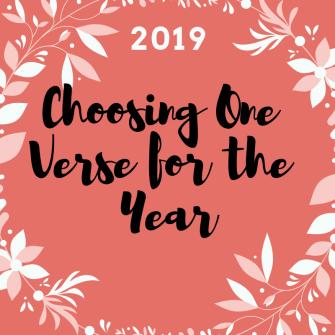 choosing one verse 2019 graphic